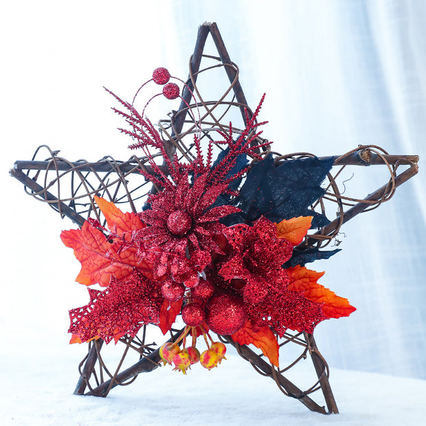 Pentagram Rattan Pumpkin Hanging Ornament
