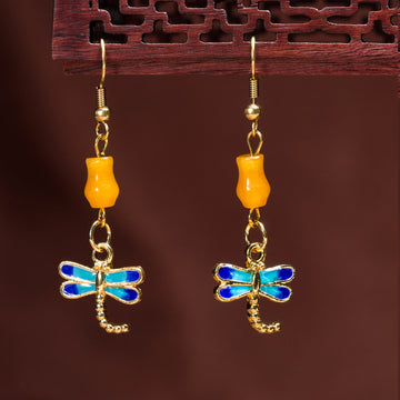 Personality Earrings Retro Style Koi Dragonfly Earrings