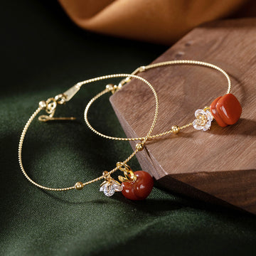 Personality Southern Red Agate Elegant Ladies Bracelet
