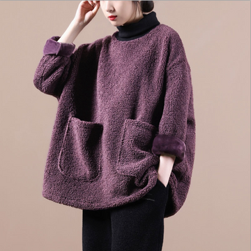 Plus Size - Women Turtleneck Warm Sweater
