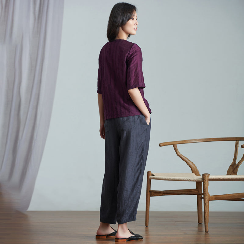 Plus Size Casual Ankle-Length Lantern Pants