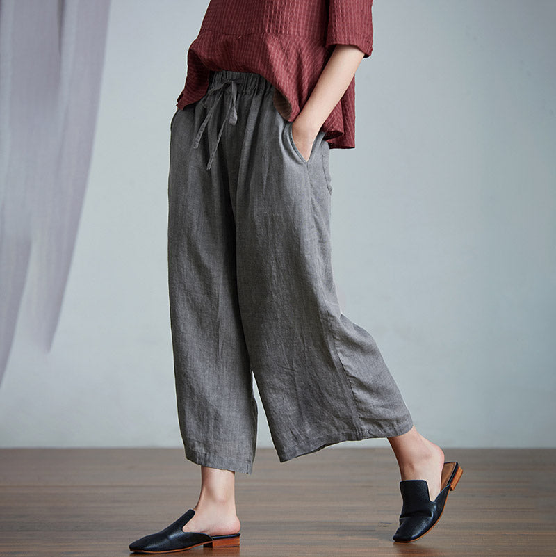 Plus Size Falling Wide Leg Straight Casual Pants