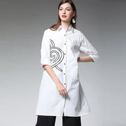 Plus Size Personality Printing Long Shirt
