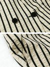 Plus Size Women Stripe Vest Coat