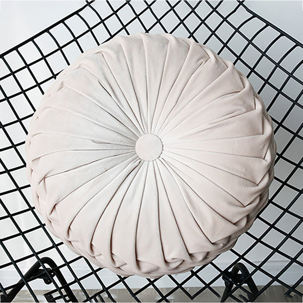 Plush Pumpkin Shape Pillow Pleated Cushion