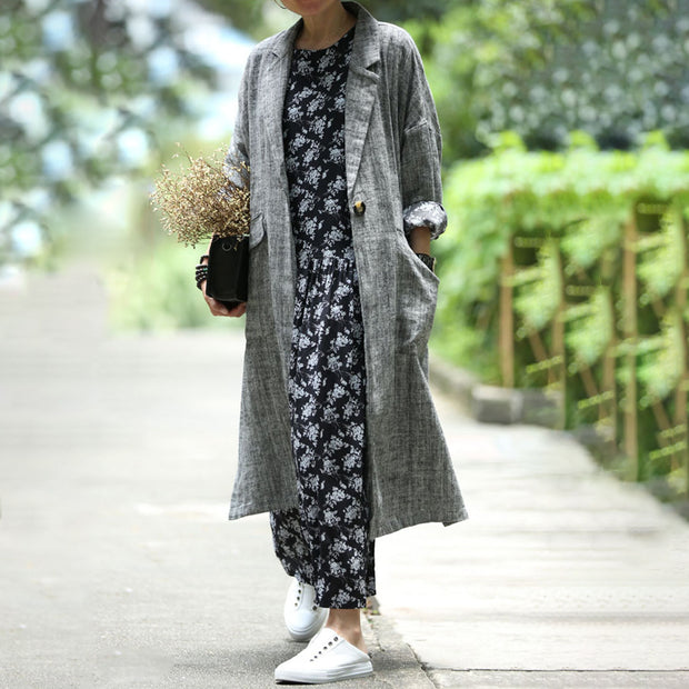 Print Long Sleeve Polyester Floral Dress