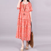 Printed Multilayer Spliced Casual Loose Dress