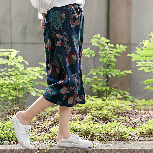 Printing Loose Casual Baggy Pants For Women