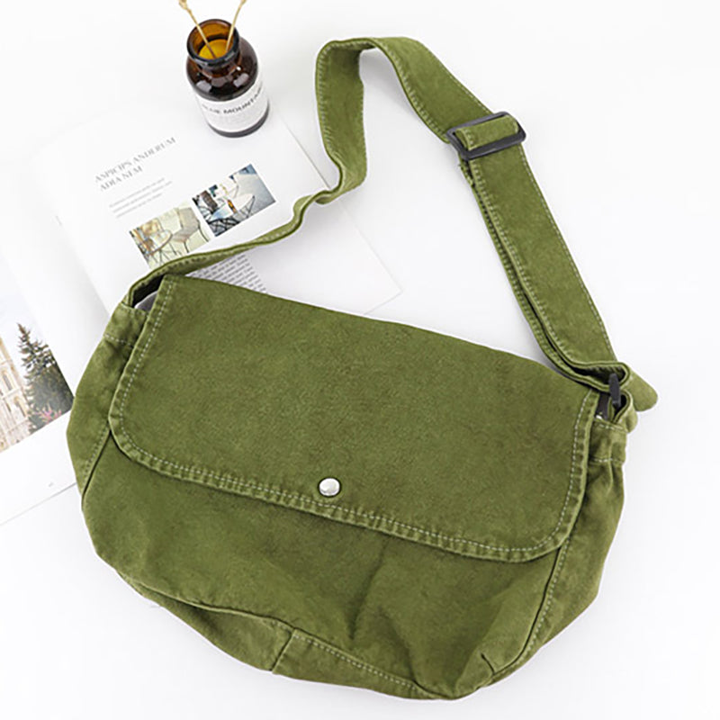 Pure Color Adjustable Strap Bodycross Bag