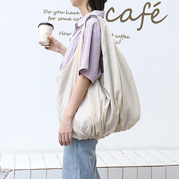 Pure Color Casual Canvas Shoulder Bag