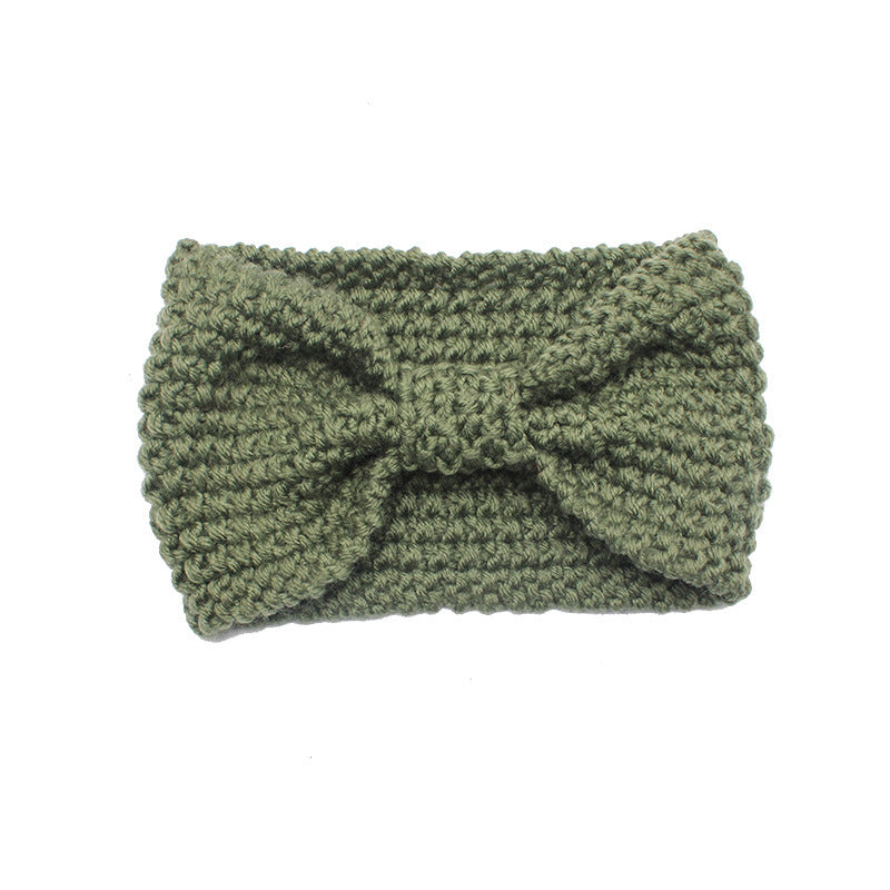 Pure Color Knitted Knot Headband(2 Pieces)