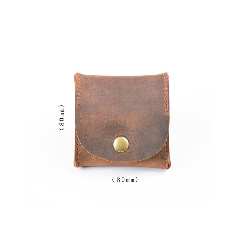 Pure Color Leather Card Bag Wallet