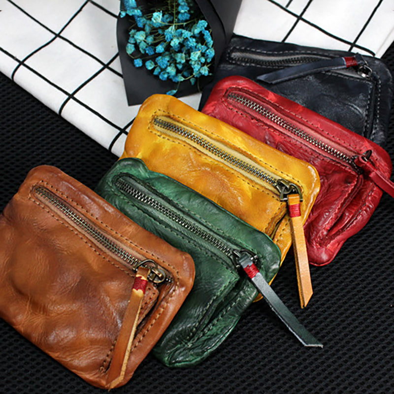 Pure Color Leather Square Wallet
