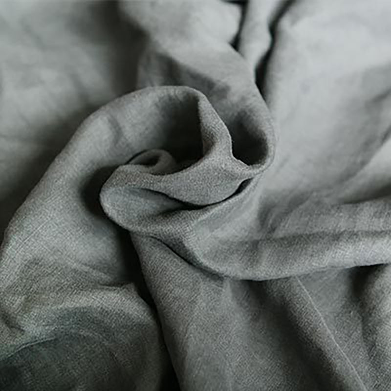 Pure Color Linen Fishtail Pillowcase