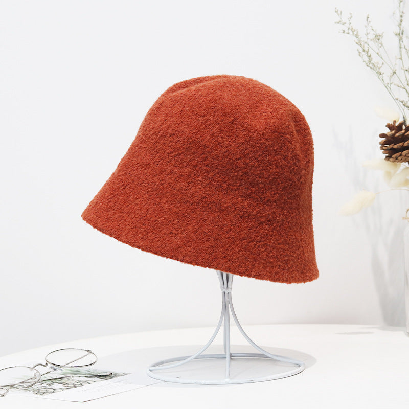 Pure Color Wild Casual Alpaca Hat