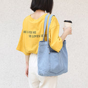 Pure Color Casual Classical Tote Bag