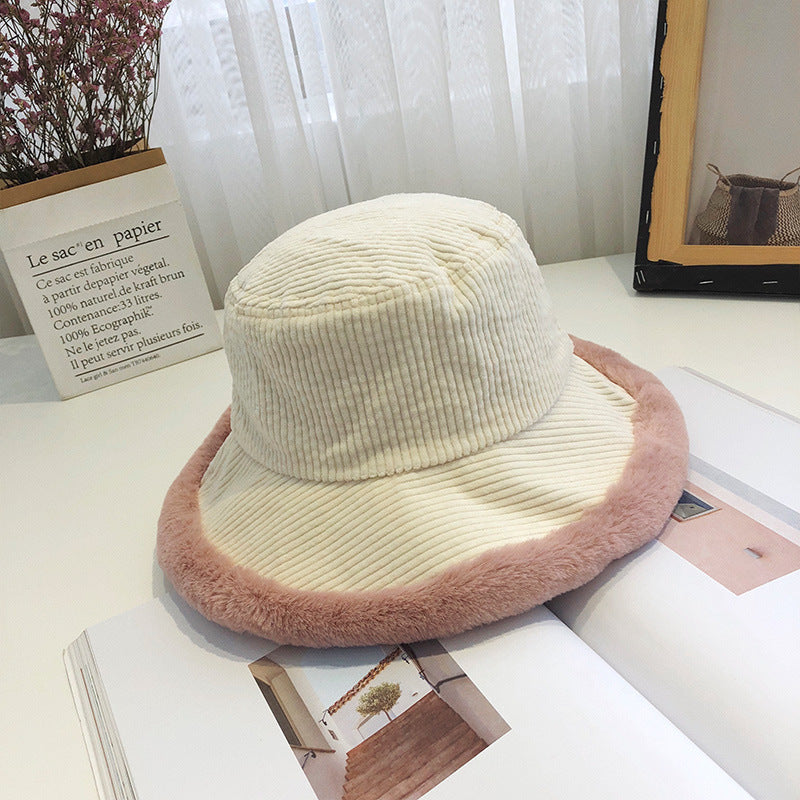 Pure Color Corduroy Bucket Hat