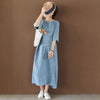 Pure Color Elegant Loose Denim Dress