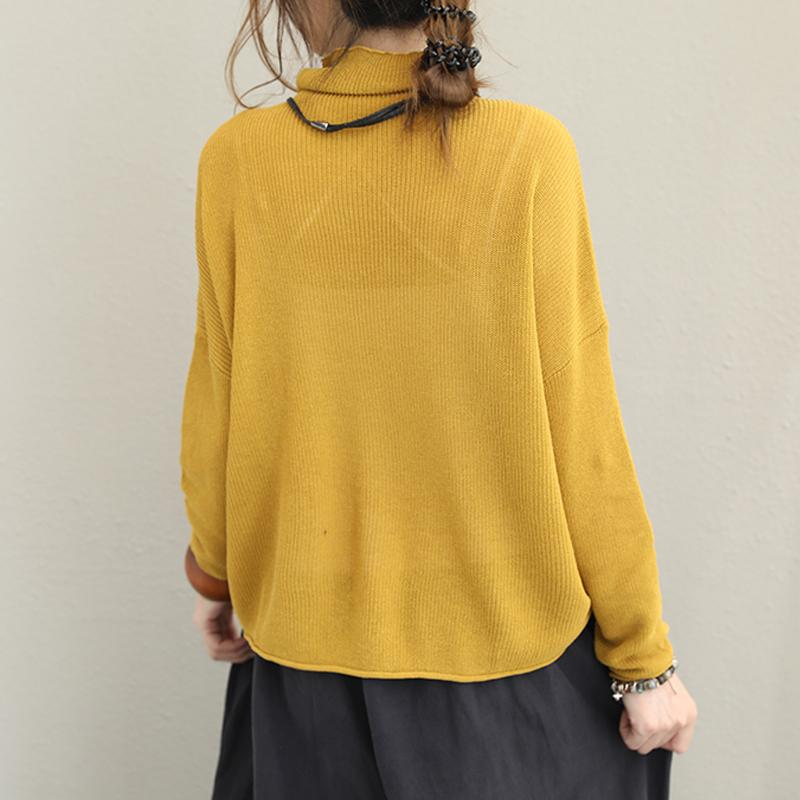 Pure Color Turtleneck Casual Comfortable Sweater