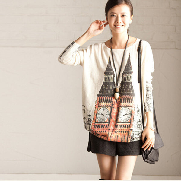 Printed sweater - Tkdress  - 8