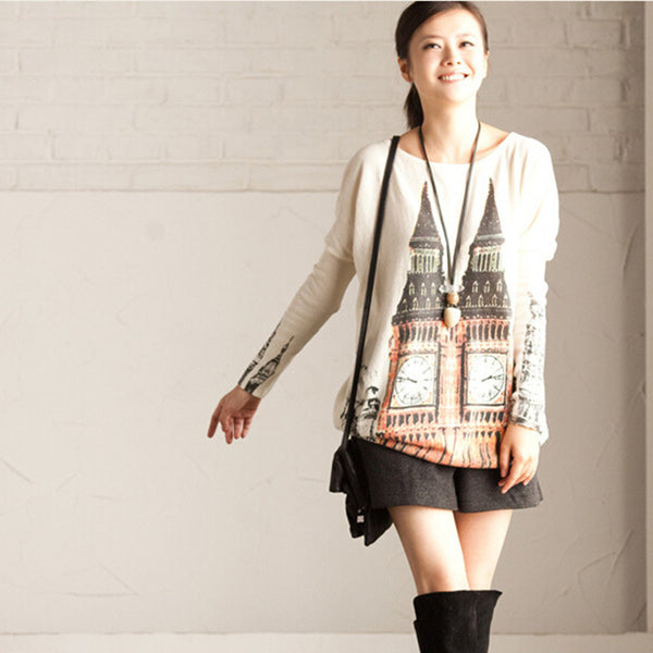 Printed sweater - Tkdress  - 10