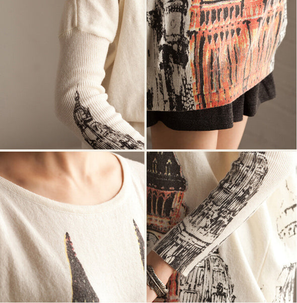 Printed sweater - Tkdress  - 11