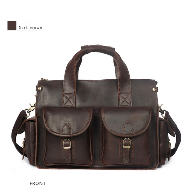 Women and man retro style handbag or shoulder bag