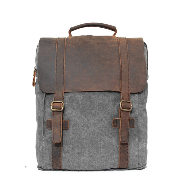 Women Canvas Leather backpacks - Buykud
