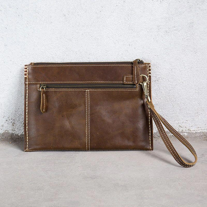 Women Leather Zipper Tote Bag
