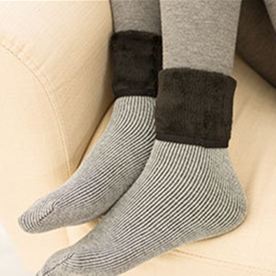 Cotton Wool Casual Keep Warm Gray Women Socks - Buykud