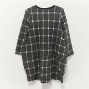 Spring Casual Plaid Knee-Length Pullovers Loose Long Sleeve Dress