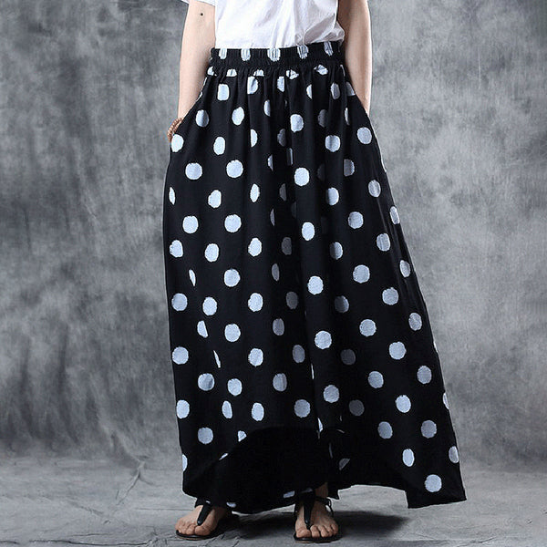 Ramie Loose Asymmetrical Wide Leg Pants