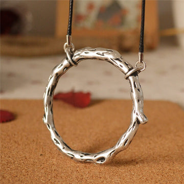 Retro Alloy Simple Circle Long Necklace
