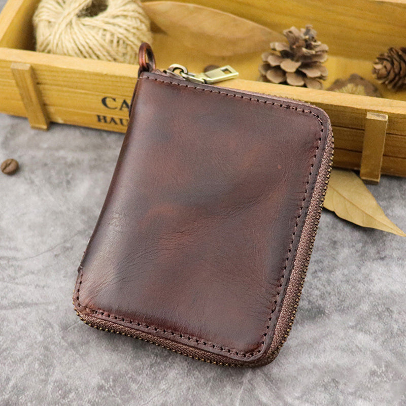 Retro Business Leather Card Bag Wallet