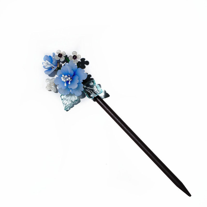 Retro Flowers Leaves Women Hairpin
