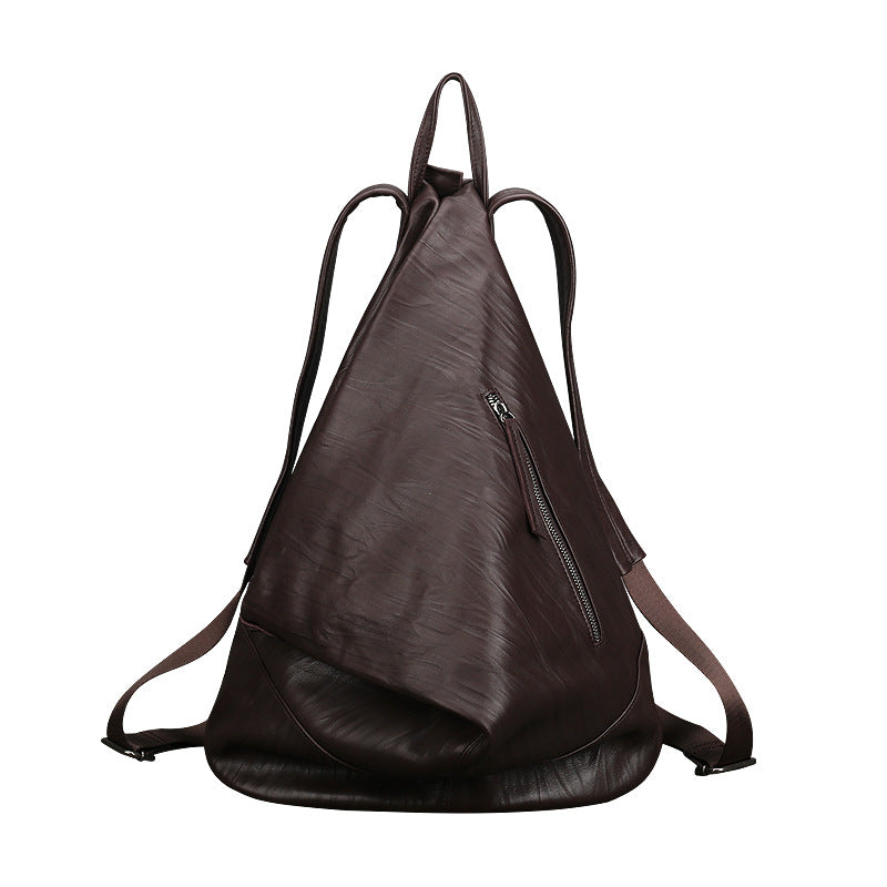 Retro Large Capacity Leather Backpack