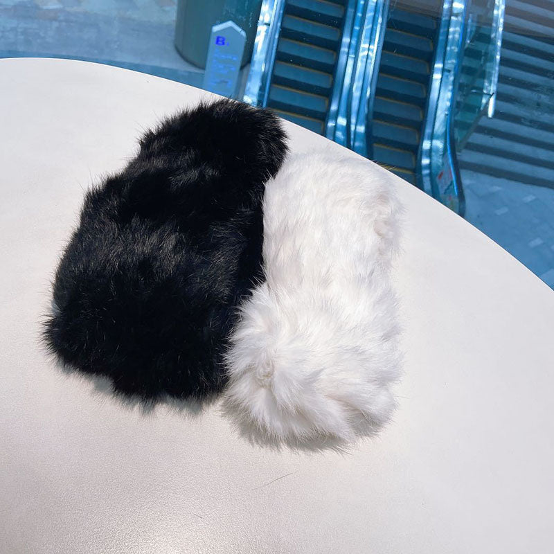Retro Rabbit Fur Elastic Winter Hair Band