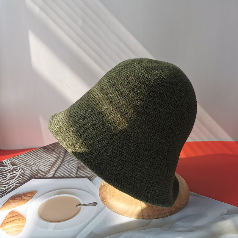 Retro Solid Color Knitted Hat Cap