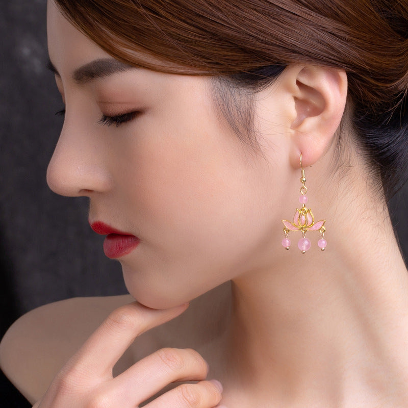 Retro Style Flower Earrings
