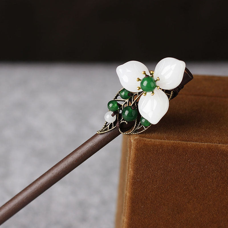 Retro Women Flower Butterfly Beads Hairpin