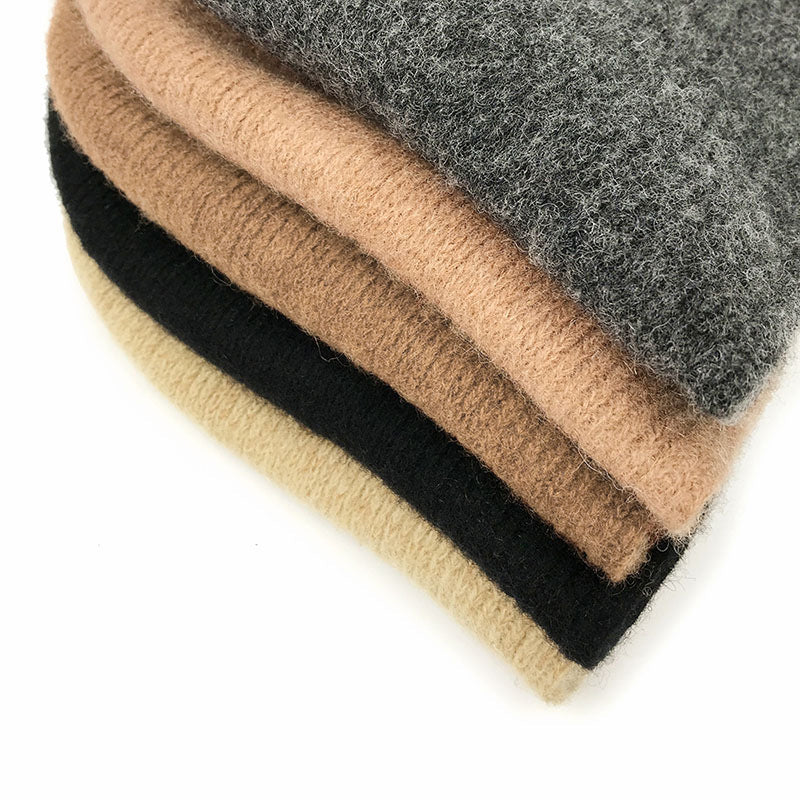 Retro Women Knitted Pure Color Hat