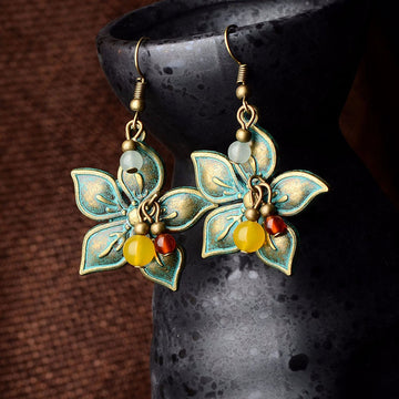 Retro Alloy Flower Classical Earrings