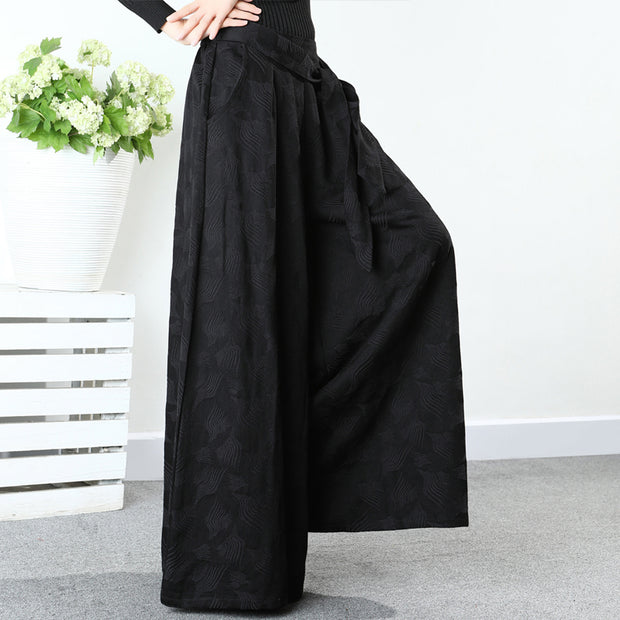 Retro Beautiful Jacquard Wide Leg Pants