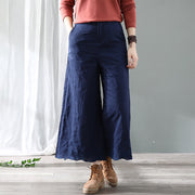 Retro Embroidery Thick Wide Leg Pants