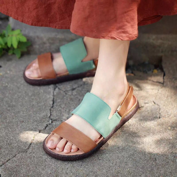Retro Hand Made Leather Thread Sandals