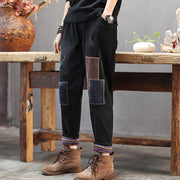 Retro Patchwork Casual Thick Harem Pants
