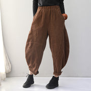Retro Plus Size Corduroy Harem Pants