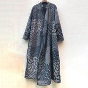 Retro Printed Soft Comfortable Warm Cotton-padded Coat