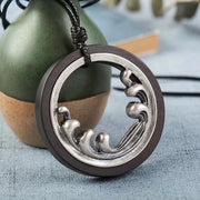 Retro Wave Shape Alloy Pendant Necklace