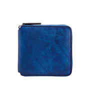 Retro Womens Zipper Leather Purse Wallet